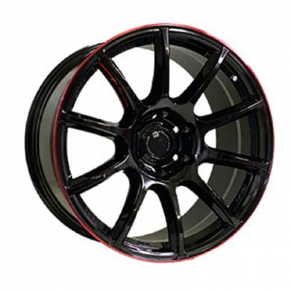 Диски Off Road Wheels OW1012 GLOSSY_BLACK_RED_LINE_RIVA_RED
