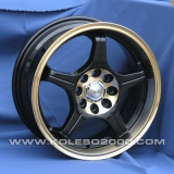 Диски Racing Wheels H-196 BK/PGD