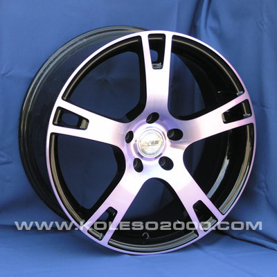 Диски Racing Wheels H-335 BK-PPU/FP