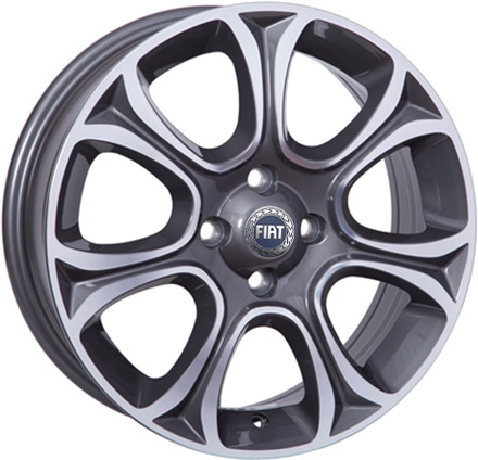 Литые  диски WSP Italy FIAT W163 EVO 16x6,0 PCD4x98 ET45 D58,1 ANTHRACITE POLISHED