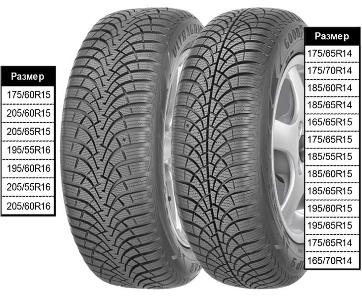 Зимние шины GoodYear Ultra Grip 9 Plus